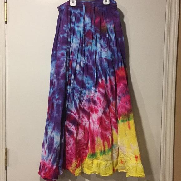 Tie-dye long flowing skirt Grateful Dead, Phish